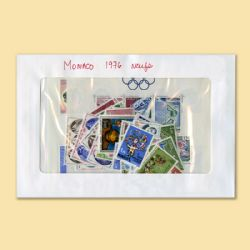 MONACO -  1976 COMPLETE YEAR SET, NEW STAMPS