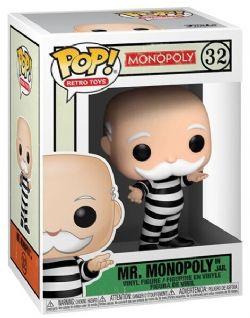 MONOPOLY -  POP! VINYL FIGURE OF MR. MONOPOLY IN JAIL (4 INCH) -  RETRO TOYS 32