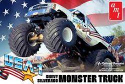 MONSTER TRUCK -  USA-1 CHEVY SLVERADO 1/25 (LEVEL 2)