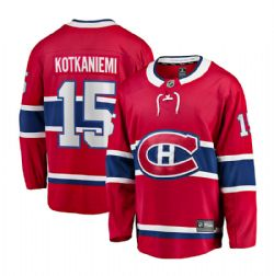 MONTREAL CANADIEN -  JESPERI KOTKANIEMI #15 - REPLICA RED JERSEY (XX-LARGE)