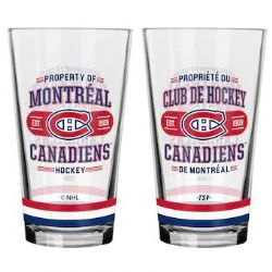 MONTREAL CANADIENS -  16 OZ GLASS