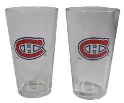 MONTREAL CANADIENS -  2-PACK COLLECTIBLE GLASS - 16 OZ
