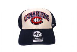 MONTREAL CANADIENS -  ADJUSTABLE CAP - BEIGE/BLUE