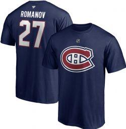 MONTREAL CANADIENS -  ALEKSANDR ROMANOV #27 T-SHIRT - BLUE
