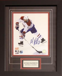 MONTREAL CANADIENS -  AUTOGRAPHED AND FRAMED MAX PACIORETTY #67 PHOTO (8X10)