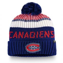 MONTREAL CANADIENS -  BEANIE WITH POMPOM - BLUE