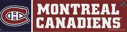 MONTREAL CANADIENS -  BUMPER STICKER