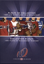 MONTREAL CANADIENS -  COLLECTOR ALBUM - 100 YEARS OF CANADIENS HISTORY -  2009 CANADIAN COINS
