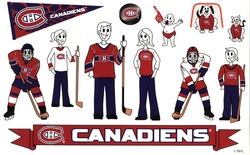 MONTREAL CANADIENS -  FAMILY - STICKERS