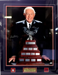 MONTREAL CANADIENS -  FRAMED AND SIGNED JEAN BELIVEAU #4 PHOTO (18 X 24)