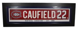 MONTREAL CANADIENS -  FRAMED ART 22 -  COLE CAUFIELD