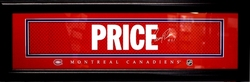 MONTREAL CANADIENS -  FRAMED CAREY PRICE (8 IN X 24 IN)