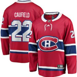 MONTREAL CANADIENS -  JERSEY - RED 22 -  COLE CAUFIELD