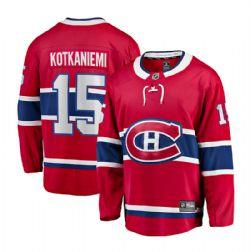 MONTREAL CANADIENS -  JESPERI KOTKANIEMI #15 - REPLICA RED JERSEY (XX-LARGE)