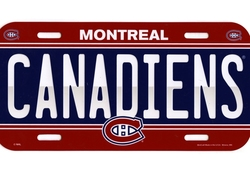 MONTREAL CANADIENS -  LICENCE PLATE