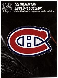 MONTREAL CANADIENS -  LOGO - METTALIC STICKER
