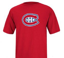 MONTREAL CANADIENS -  LOGO T-SHIRT - RED