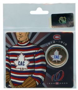 MONTREAL CANADIENS -  MONTREAL CANADIENS CENTENNIAL COLLECTOR CARDS - CAC (1912-1913) -  2009 CANADIAN COINS 04