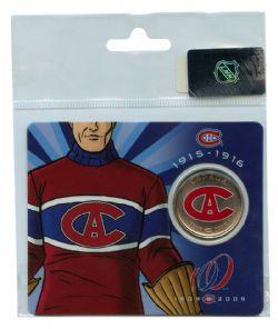 MONTREAL CANADIENS -  MONTREAL CANADIENS CENTENNIAL COLLECTOR CARDS - LE CLUB DE HOCKEY CANADIENS (1915-1916) -  2009 CANADIAN COINS 03