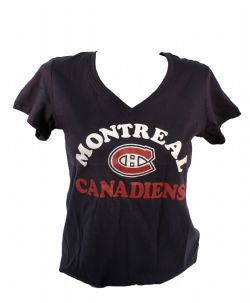 MONTREAL CANADIENS -  NAVY T-SHIRT (WOMAN)