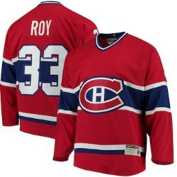 MONTREAL CANADIENS -  PATRICK ROY #33 - REPLICA RED JERSEY