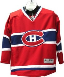 MONTREAL CANADIENS -  REPLICA JERSEY RED (JUNIOR - LARGE/X-LARGE)