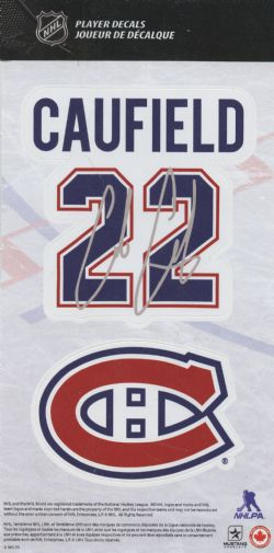MONTREAL CANADIENS -  REUSABLE WALL DECAL 22 -  COLE CAUFIELD