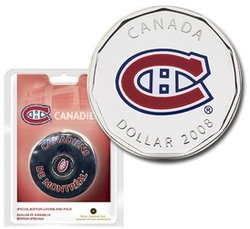 MONTREAL CANADIENS -  SPECIAL EDITION 2008 LOONIE AND PUCK (FRENCH)
