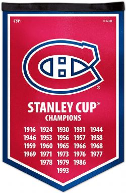 MONTREAL CANADIENS -  STANLEY CUP BANNER