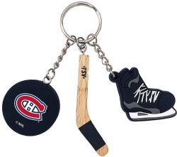 MONTREAL CANADIENS -  STICK, PUCK AND SKATE - KEYCHAIN