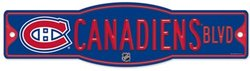 MONTREAL CANADIENS -  STREET SIGN