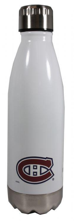 MONTREAL CANADIENS -  WHITE GLACIER WATER BOTTLE - 17 OZ