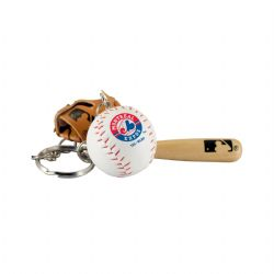 MONTREAL EXPOS -  BAT, BALL AND GLOVE - KEYCHAIN