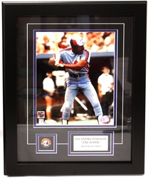 MONTREAL EXPOS -  FRAMED AND SIGNED ANDRE DAWSON #10 (8 X 10)