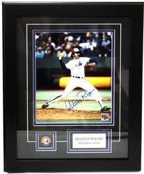 MONTREAL EXPOS -  FRAMED AND SIGNED STEVE ROGERS #45 (8 X 10)
