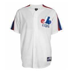 MONTREAL EXPOS -  WHITE JERSEY REPLICA