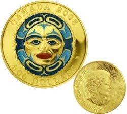MOON MASK -  FOUR SEASONS MOON MASK -  2008 CANADIAN COINS