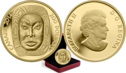 MOON MASK -  MATRIARCH MOON MASK 02 -  2014 CANADIAN COINS