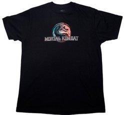 MORTAL KOMBAT -  THERMAL LOGO T-SHIRT BLACK