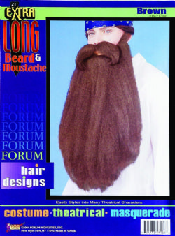 MOUSTACHES AND BEARDS -  EXTRA LONG 18