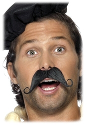 MOUSTACHES AND BEARDS -  FRENCHMAN MOUSTACHE - BLACK