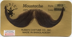 MOUSTACHES AND BEARDS -  HANDLEBAR MOUSTACHE - BROWN