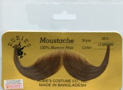 MOUSTACHES AND BEARDS -  HANDLEBAR MOUSTACHE - LITTLE BROWN
