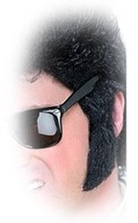 MOUSTACHES AND BEARDS -  SIDEBURNS - BLACK