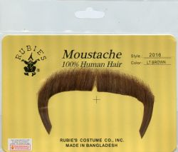 MOUSTACHES AND BEARDS -  ZAPATA MOUSTACHE - LIGHT BROWN