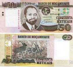 MOZAMBIQUE -  50 METICAIS 2006 (UNC)