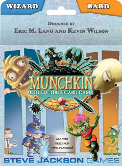 MUNCHKIN COLLECTIBLE CARD GAME -  WIZARD & BARD STARTER PACK (ENGLISH)
