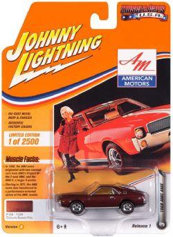 MUSCLE CARS U.S.A -  1968 AMC AMX - BROWN -  JOHNNY LIGHTNING 3