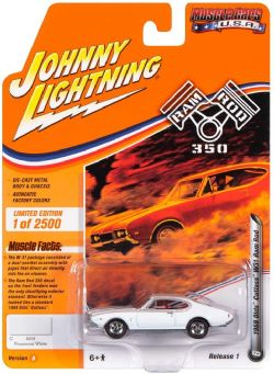 MUSCLE CARS U.S.A -  1968 OLODS CUTLASSW31 RAM ROD - WHITE -  JOHNNY LIGHTNING 6