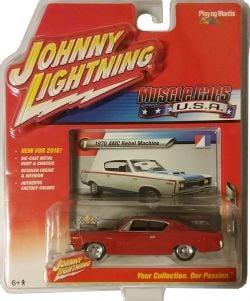 MUSCLE CARS U.S.A -  1970 AMC REBEL MACHINE - RED -  JOHNNY LIGHTNING 1